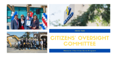 Serve on the Citizens' Oversight Committee for the District's Measure J Facilities Bond Program